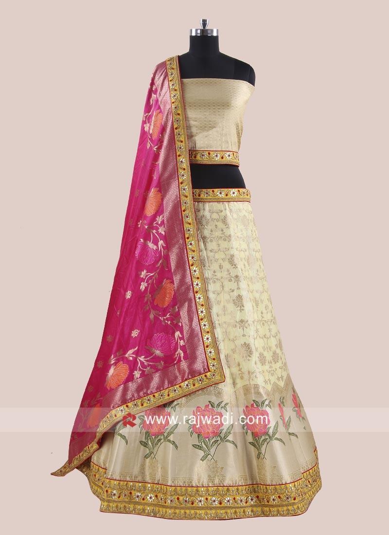 866cc33a25610a Brocade Designer Lehenga Choli. Hover to zoom