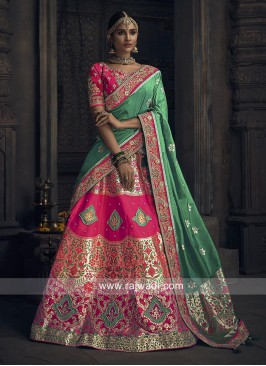 Brocade Designer Lehenga with Choli and Dupatta