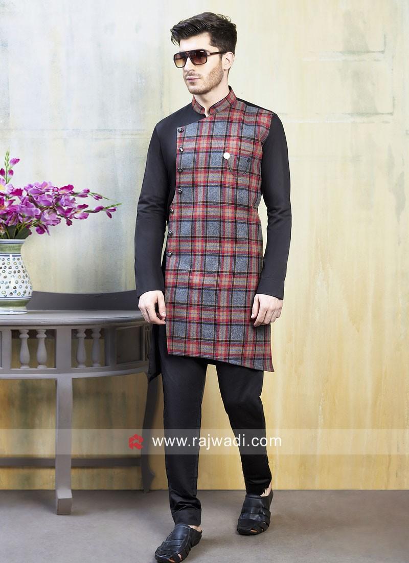 Linen Cotton Fabric Indo Western