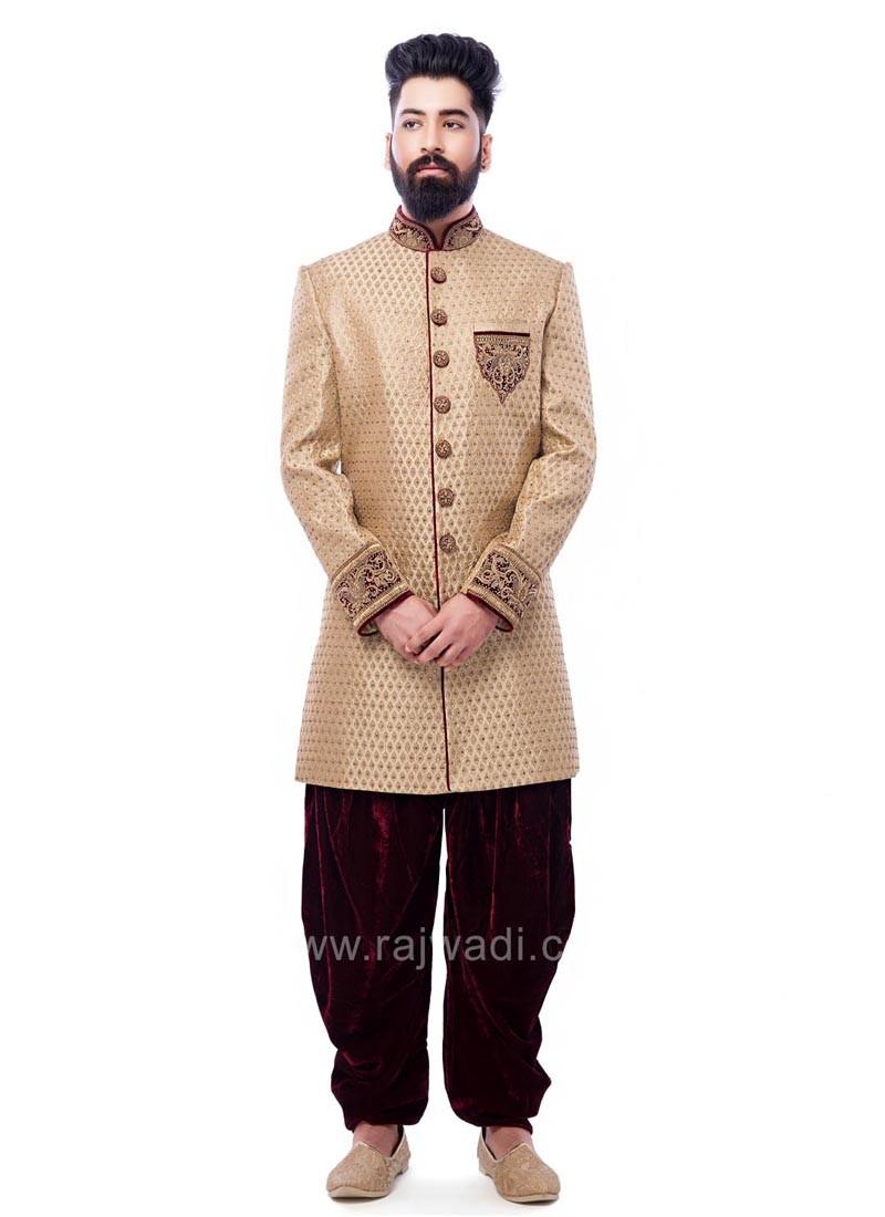Brocade Fabric Indo Western