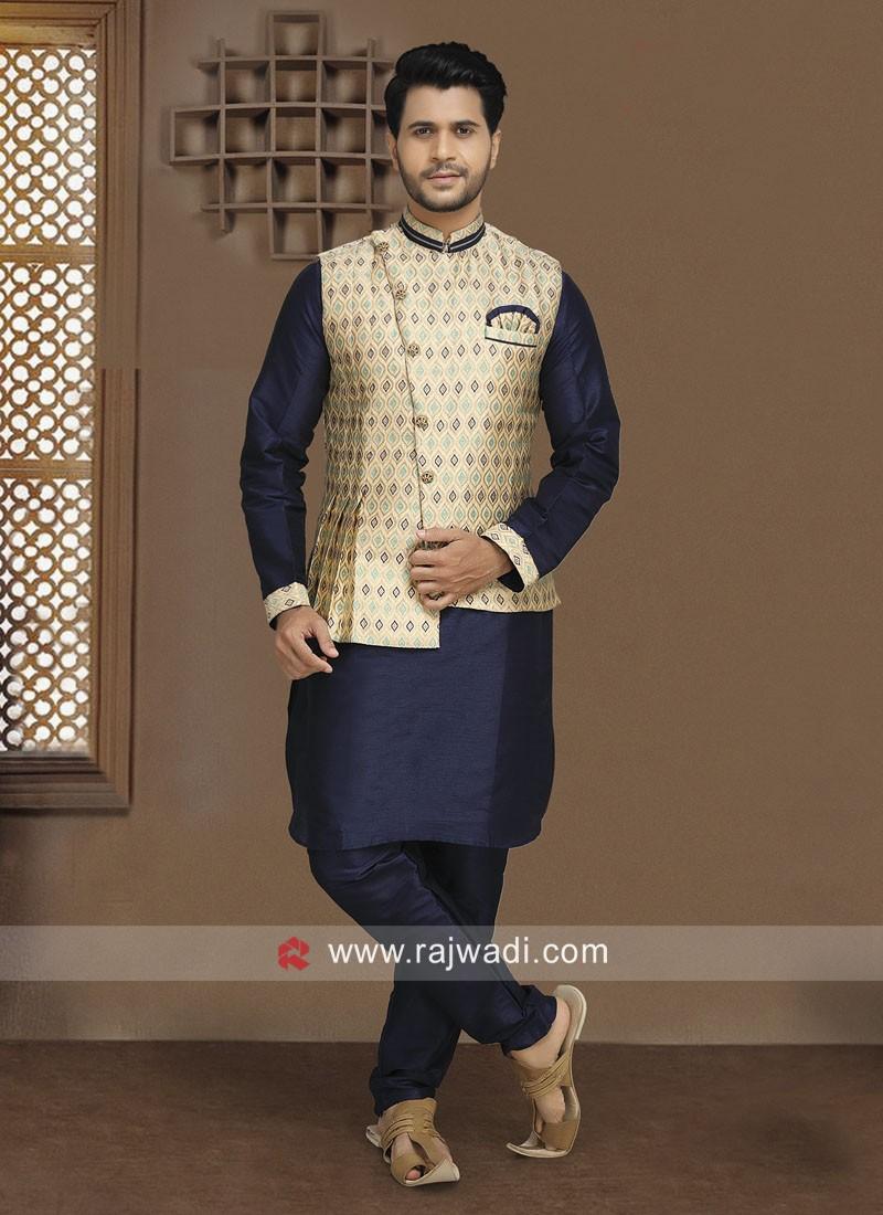 Brocade fabric Nehru Jacket