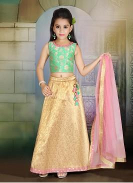 Brocade Girls Choli Suit