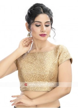 Brocade Golden Color Ready Blouse