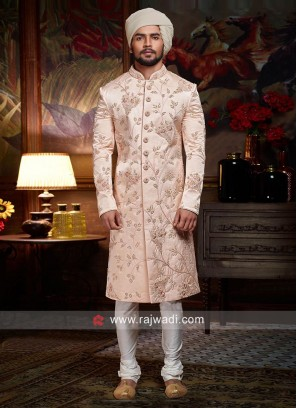 Light Pink Color Sherwani For Wedding