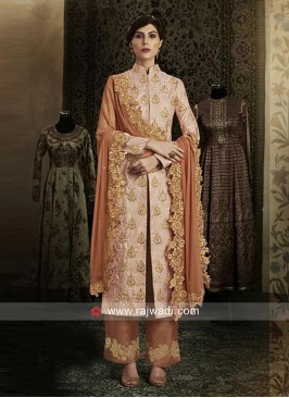Brocade Pakistani Suit with Dupatta
