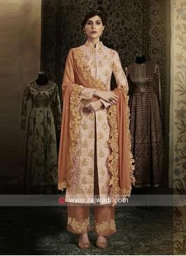 Brocade Pakistani Suit with Dupatta