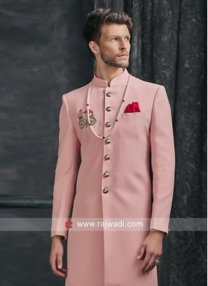 Charming Pink Indo Western For Wedding