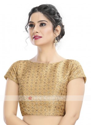 Brocade Ready Blouse In Golden