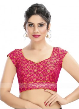Brocade Ready Blouse In Pink