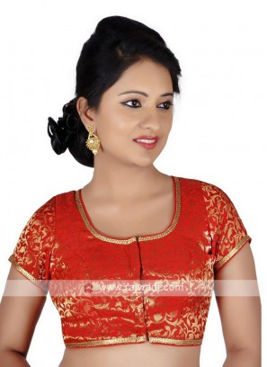 Brocade Red Ready Blouse