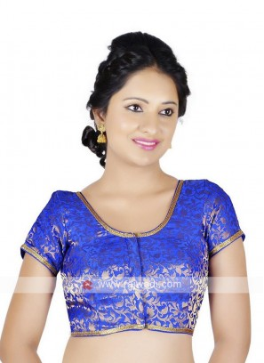 Brocade Royal Blue Ready Blouse