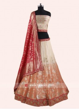 Brocade Shaded Wedding Lehenga