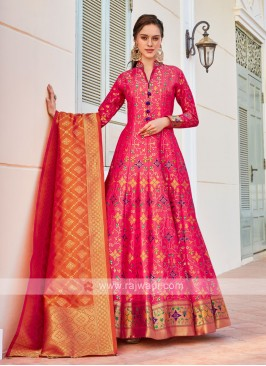 Brocade Silk Anarkali Suit