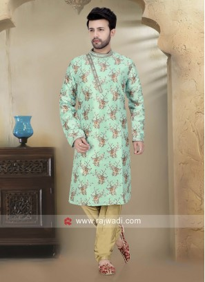 Traditional Sea Green Kurta Set