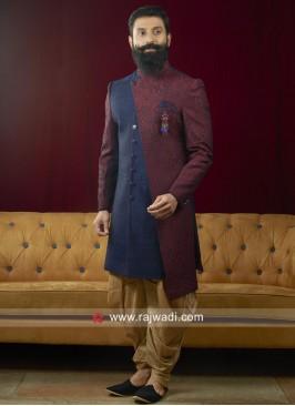 Charming Brocade Silk Indo Western