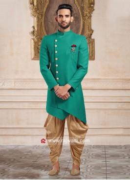 Designer Green Color Indo Western