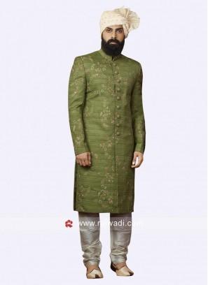 Art Silk Fabric Mens Indo Western