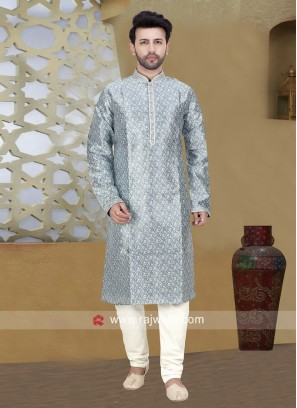 Art Silk Fabric Kurta Pajama