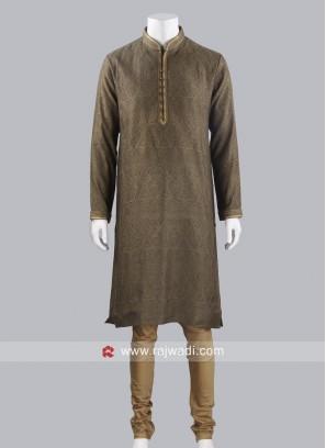Brocade Silk Fabric Kurta Pajama