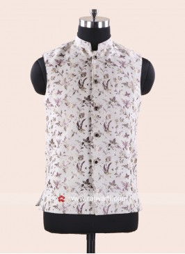 Brocade Silk Fabric Mens Koti