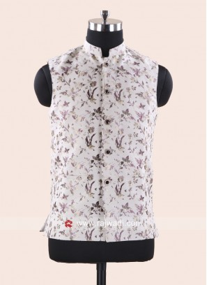 Brocade Silk Fabric Mens Koti