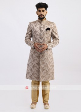 Brocade Silk Golden Indo Western