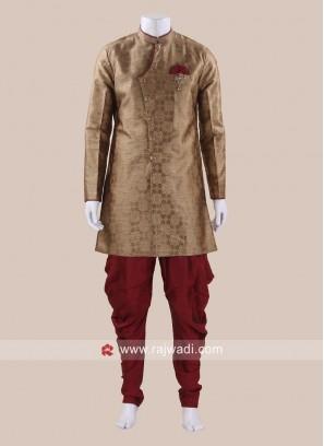 Brocade Silk Goldenrod Patiala Suit