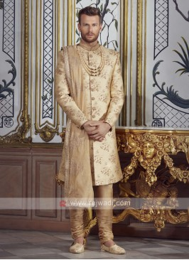 Brocade Silk Groom Sherwani