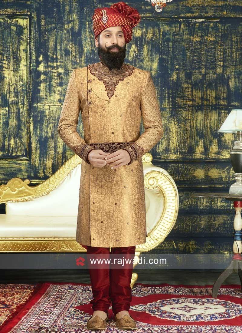 Brocade Silk Heavy Embroidered Sherwani