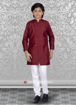 Maroon Indo Western For Kids