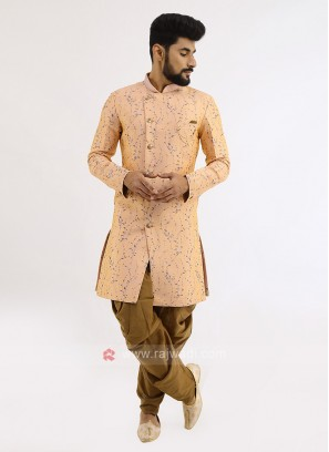 Brocade Silk Indo Western For Men