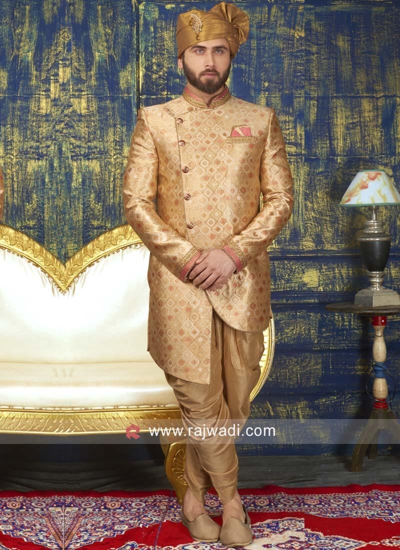 Brocade Silk Indo Western For Wedding
