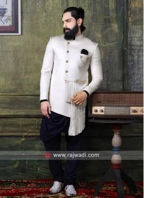 Designer Emboss Fabric Indo Western