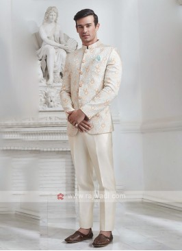 Brocade Silk Jhodhupri Suit