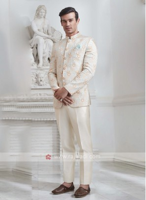 Brocade Silk Jodhupri Suit