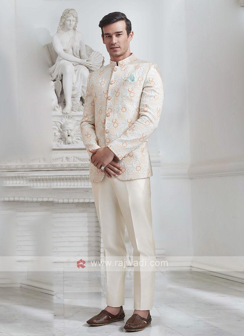 Brocade Silk Jodhupri Suit