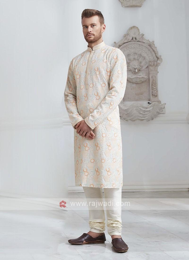 Brocade Silk Kurta Pajama