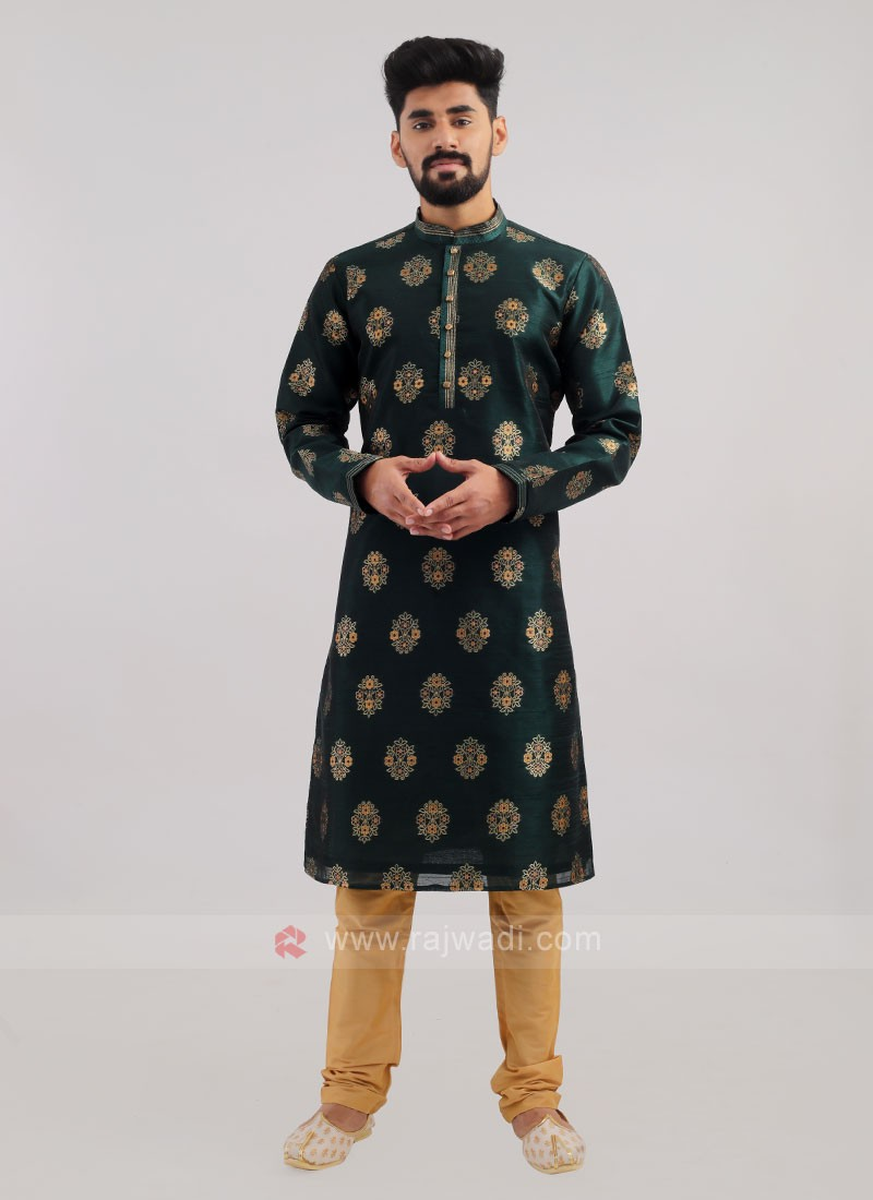 Brocade Silk Kurta Pajama For Wedding