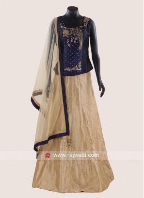 Brocade Silk Lehenga Choli with Dupatta