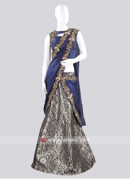 Brocade Silk Lehenga Saree