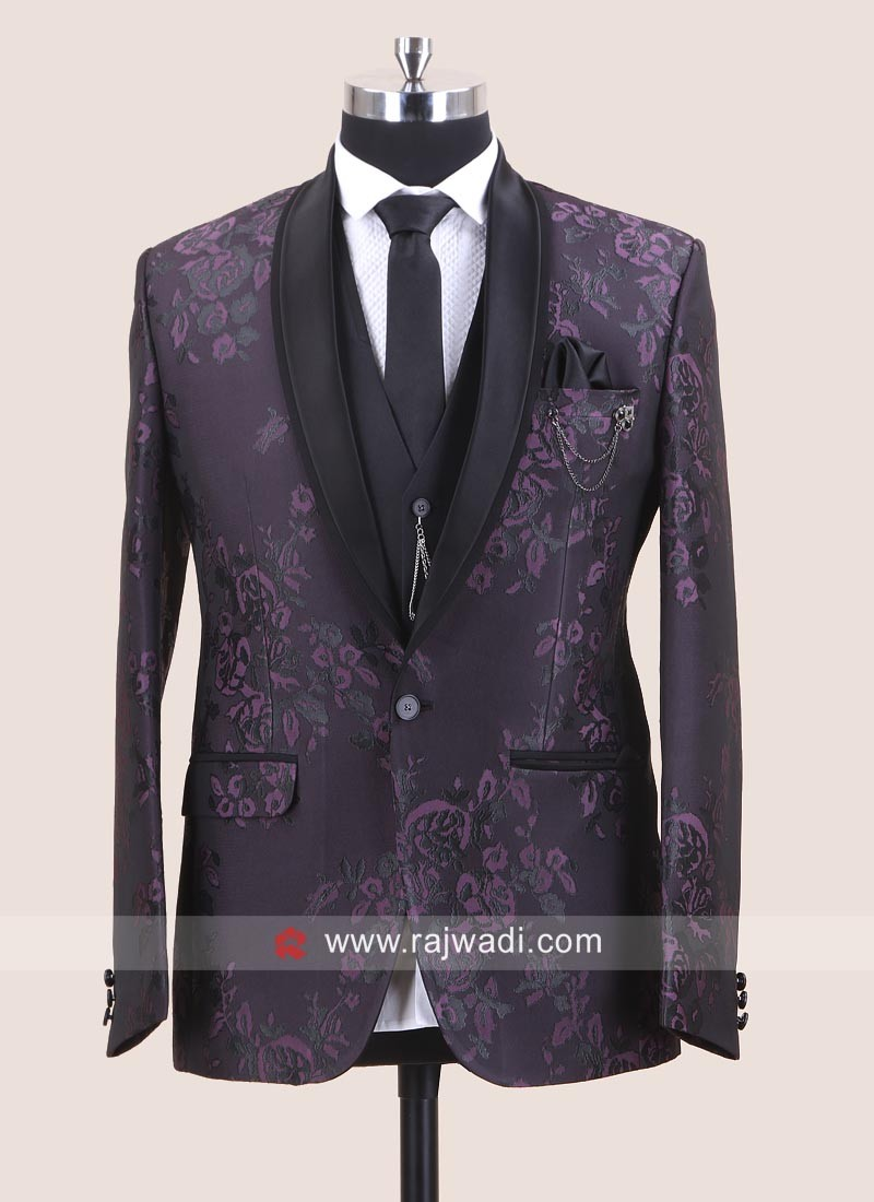 Brocade Silk Material Suit For Wedding
