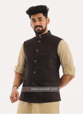 Brocade Silk Mens Nehru Jacket