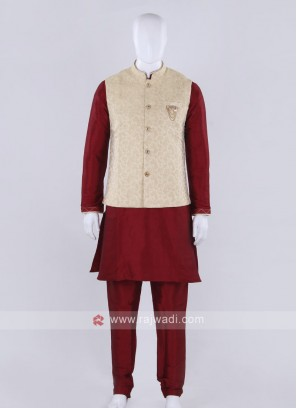 Brocade silk nehru jacket