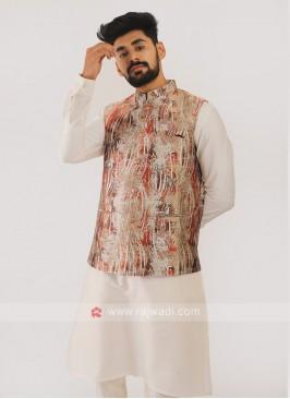 Brocade Silk Nehru Jacket