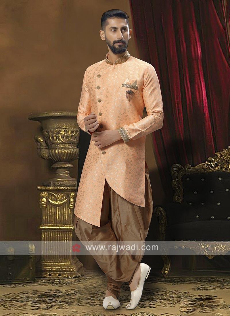 Brocade Silk Patiala Suit