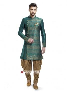 Brocade Silk Patiala Suit For Wedding