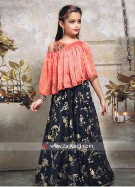 Brocade Silk Poncho Style Gown