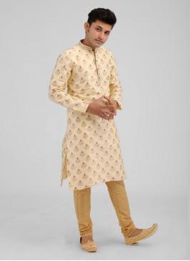 Brocade Silk Printed Kurta Pajama