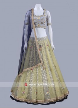 Brocade Silk Traditional Choli Suit