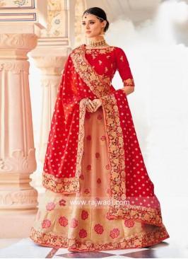Brocade Silk Wedding Lehenga Choli